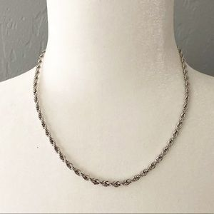 Stainless steel necklace twisted rope chain